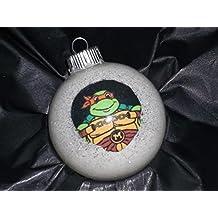 Michaelangelo Ninja Turtle Glow in the Dark Ornament