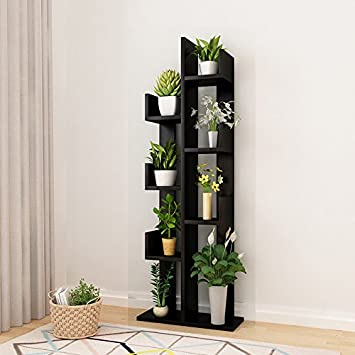 Raumeyun Modern Corner 7,Tier Wooden Plant Shelf/Flower Stand/Bookshelf  Bookcase Stand Shelf Home Decor Accessory