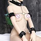 Fetish Neck Collar Hand Restraint Wrist Arms Cuffs Leather Bondage Restraints Sex Toys for Couple Sex Products High Quality