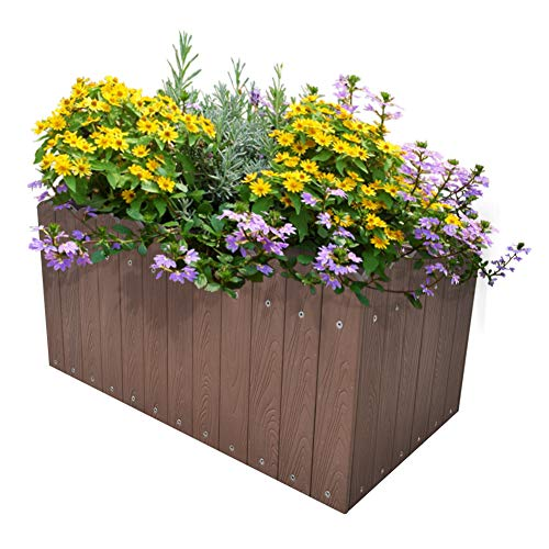 ART TO REAL Large Garden Raised Planters, Outdoor Raised Bed for Flowers Vegetable Herbs, 23.6''L x 12.5''W x 7.9''H (Coffee) by ART TO REAL