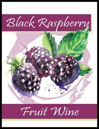 Black Raspberry Fruit Wine Bottle Labels