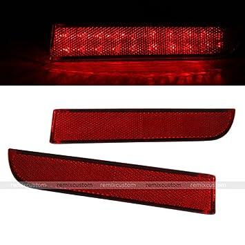 11 12 Mitsubishi Outlander Rear LED Bumper Reflector Side Marker Lamp Tail  Brake Lights