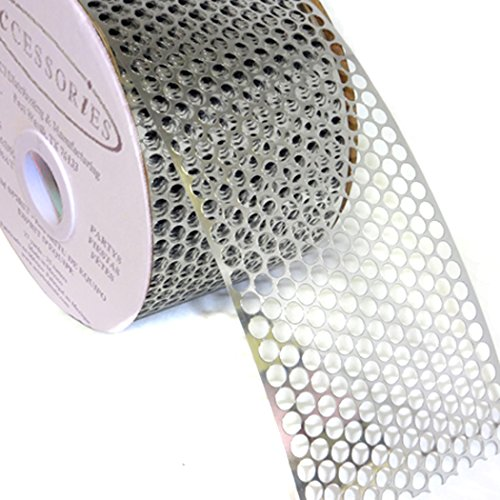 ACI PARTY AND SPIRIT ACCESSORIES Honeycomb/Punchinello Ribbon Silver