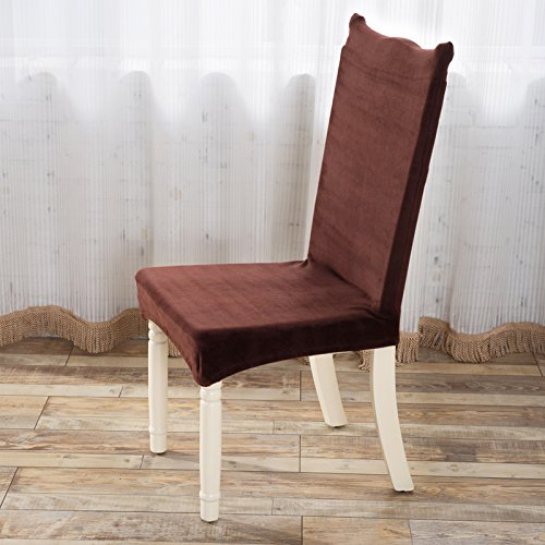 Extra thick plush upholstery twin dining chairs home living room dining chairs Cover Kit fabrics universal upholstery bench cover, brown