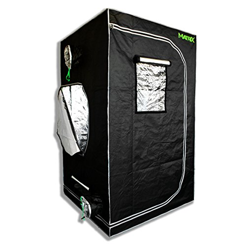 $89.87 indoor grow tent set up Matrix Horticulture 48″x48″x80″ Grow Tent Diamond Mylar 600D Hydroponic Growing Room Box for Indoor Plants Observation Window Arch Door D Design 4×4 2019