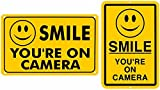 PiggiesC (2 SMILE YOU'RE ON CAMERA SECURITY YARD SIGN