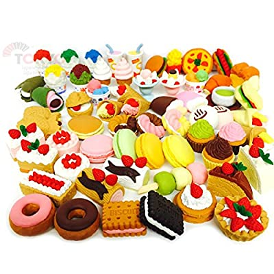 20 of Assorted SWEET DESSERT FOOD CAKE Japanese Puzzle Eraser IWAKO (20 will be randomly selected from image shown): Toys & Games