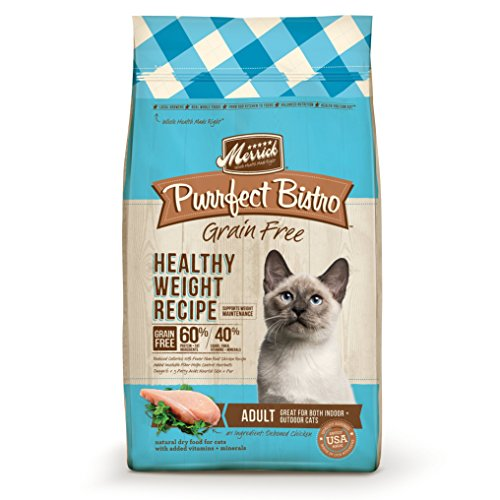 Merrick Purrfect Bistro Grain Free Healthy Weight Adult Dry Cat Food, 4 lbs.
