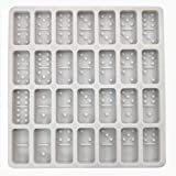 Domino mold for resin, Dominoes Chocolate Molds Candy Molds, 28 Cavities Silicone Baking Mold for Homemade Soaps, Lotion…