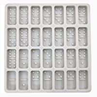 Domino mold for resin, Dominoes Chocolate Molds Candy Molds, 28 Cavities Silicone Baking Mold for Homemade Soaps, Lotion Bar, Jello, Bath Bomb, Beeswax, Resin, Chocolate and Dessert