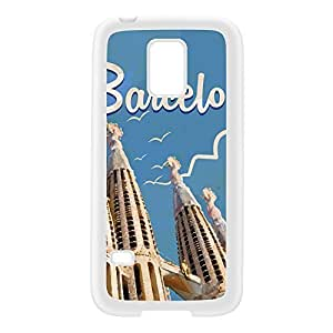 Barcelona White Silicon Rubber Case for Galaxy S5 Mini by Nick Greenaway + FREE Crystal Clear Screen Protector