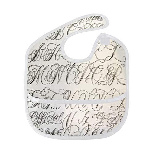 Baby Bibs Personalized Letter Font Design Large Drool Unisex Waterproof Drooling Bib/Smock