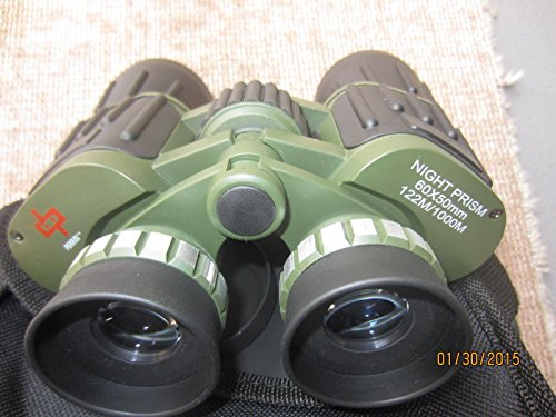 "Day/night Prism Zoom 60x50 Military Binoculars ""Black & Camo"