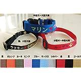 刺繍ネーム首輪(迷子札首輪) Sサイズ 名前入り 超小型犬 小型犬 猫  レッド