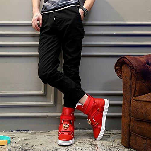 dbc1e646e3a7 PP FASHION Men's Korean Style High Top Fashion Sneakers Basketball PU  Leather Gym Training Running Stylish ...