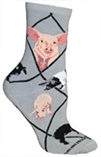 product image for Pigs Farm Novelty Adult Socks by Wheel House Designs USA Made, SIze 9-11