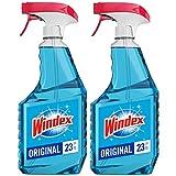Health & Personal Care : Windex Glass Cleaner Spray Bottle, Original Blue, 23 fl oz (2 ct)