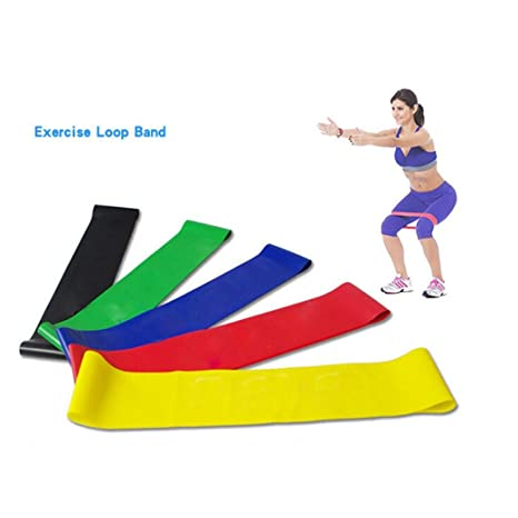 4Pcs Resistance Band Loop Exercise Yoga_Niño mamá ...