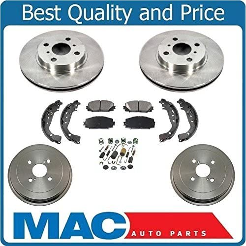 Ceramic Pads /& Rear Brake Drums Shoes For Toyota Previa Front Brake Rotors