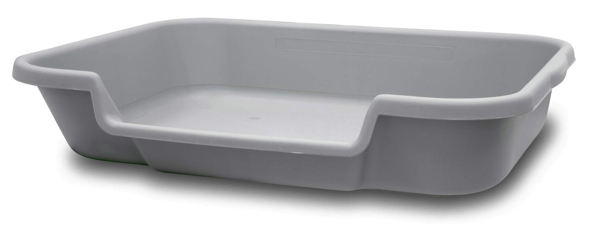 Bunny Go Here Rabbit Litter Box by Kit's Pet Pans. Large Size 24''x20''x5'' Recycled Gray Plastic Color Low Opening so Bunny can Move in and Out of The pan Easily. USA Made by Bunny Go Here Rabbit Litter Box by Kit's Pet Pans