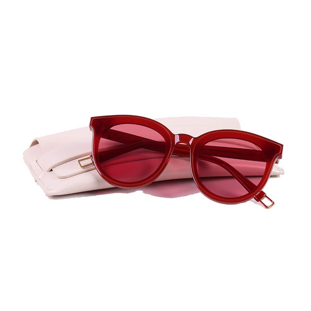 Womens Classic Small Round Polarized UV Predection Sunglasses Sunglasses (color   Red)