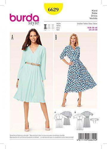 Burda Patrones De Costura Para Vestidos De Mujer Gratis Minerva Crafts Guide Amazon Es Hogar