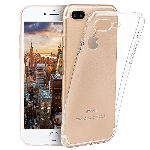 iPhone 8 Plus Case, iPhone 7 Plus case, Novo Icon Clear Soft TPU Case Rubber Silicone Skin Cover Slim Case Compatible with iPhone 7 Plus iPhone 8 Plus(Clear)