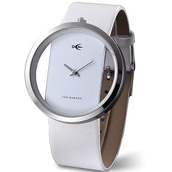 Hombres y mujeres pareja relojes Concepto creativo [moda europea y americana] Electrónica de estudiante Impermeable de la pu Moda reloj de pulsera-A: ...