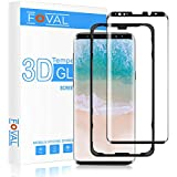 Galaxy S9 Plus Screen Protector Glass, FOVAL 3D Curved Dot Matrix Full Screen Coverage Case Friendly Galaxy S9+ Tempered Glass Screen Protector with Easy Installation Tray (NOT S9)