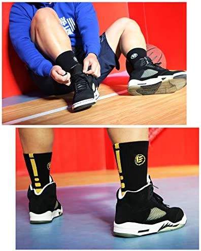 Moisture Wicking Wear Resistant Reinforced Heel and Toe for Basketball Running Cycling Extra Thick Elastic Athletic Socks Breathable DEBAIJIA Boys /& Men Sports Socks Casual Sports Ankle Socks