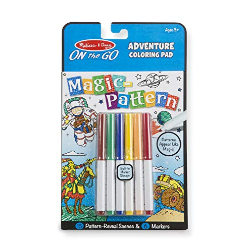 Melissa & Doug Magic-Pattern Kids' Adventure Marker Coloring Pad On The Go Travel Activity