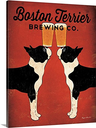 Ryan Fowler Premium Thick-Wrap Canvas Wall Art Print entitled Boston Terrier Brewing Co 11
