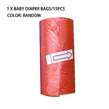 15 unids/rollo Bolsas de pañales para bebés Desechables ...