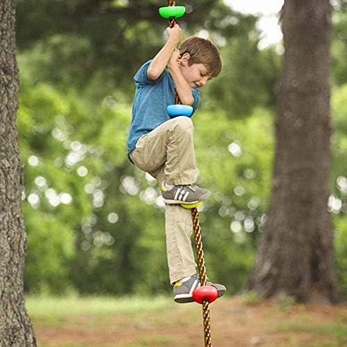 Slackline Speeltoestel Set Kinderen Ninja Warrior Obstacle Spource Kit Slackline Obstakels Klimtouw Hangende Obstakel Trainingsapparatuur voor Outdoor Garden