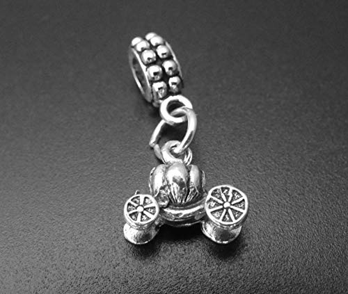 Pumpkin Carriage Charm for European and Brand Bracelets and Necklaces, Pumpkin Carriage Pendant, Pumpkin Carriage Dangle Charm, Pumpkin Carriage Charm Bead, Pumpkin Carriage Necklace