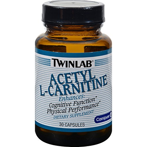Twinlab Acetyl L-Carnitine 500 mg - 30 Capsules - Enhances Cognitive Function and Physical Performance (Twinlab 500 Capsule Acetyl Mg L-carnitine)