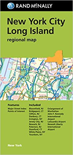 folded map new york city long island regional map rand mcnally new york citylong island rand mcnally 9780528007781 amazoncom books