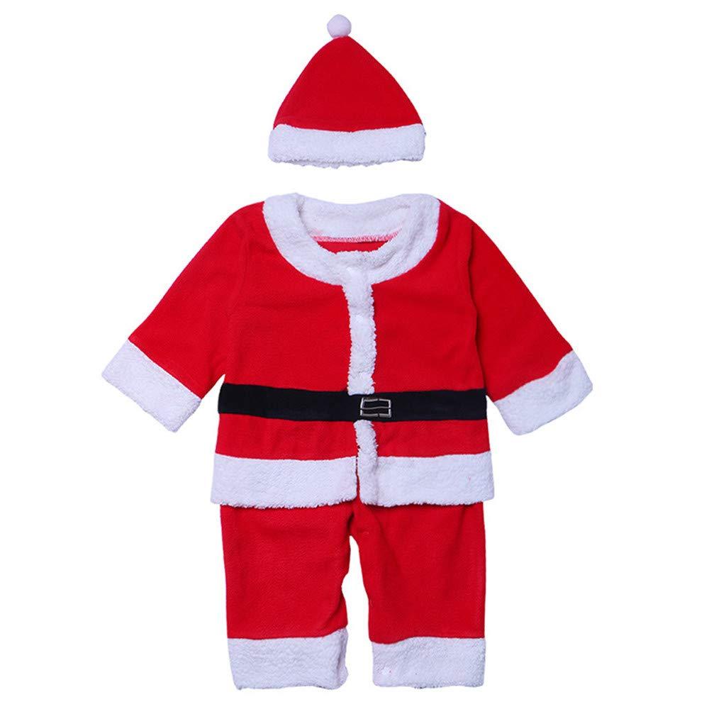 Sumferkyh Infantil bebé Ropa de Navidad Conjunto Mangas largas Traje de Santa cláusula con Sombrero Fiesta Traje de Cosplay de Mascarada apoyos Mens Ladies Fancy Dress Outfits (tamaño : S)