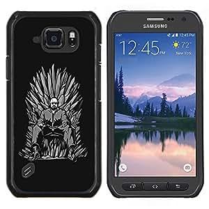Caucho caso de Shell duro de la cubierta de accesorios de protección BY RAYDREAMMM - Samsung Galaxy S6Active Active G890A - Azul Meth Trono Rey