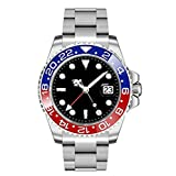 45mm Parnis Sapphire Glass GMT Master Red&Blue Bezel Men Automatic Watch