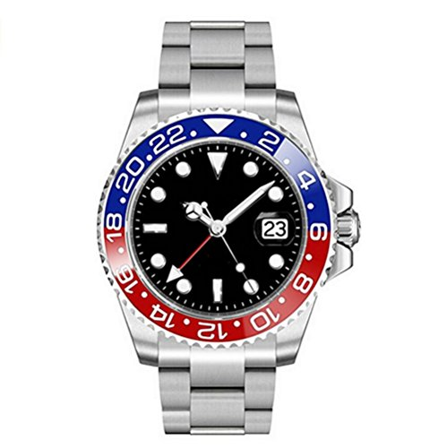 45mm Parnis Sapphire Glass GMT Master Red&Blue Bezel Men Automatic ()