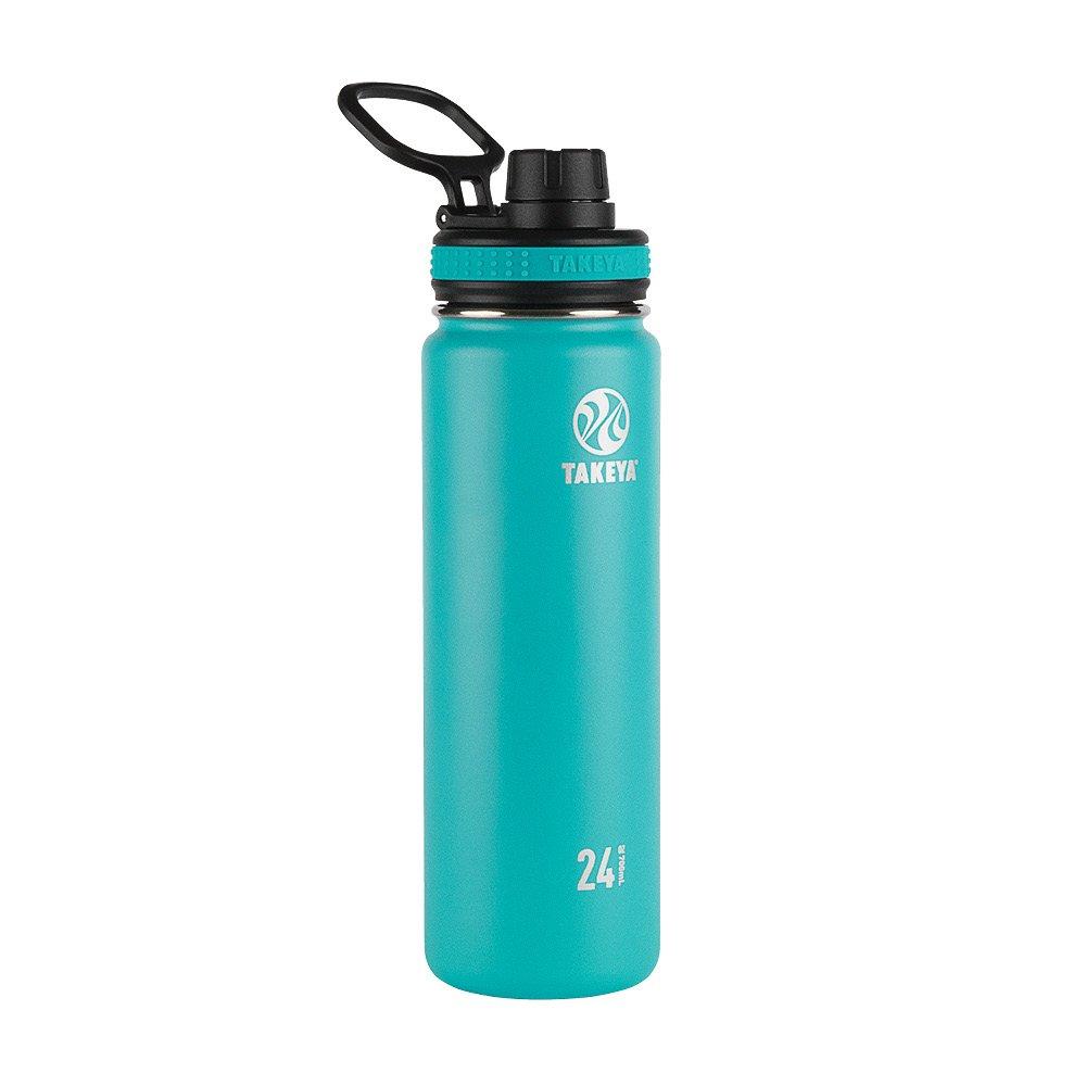 Takeya Originals Vacuum-Insulated Stainless-Steel Water Bottle, 24oz, Ocean