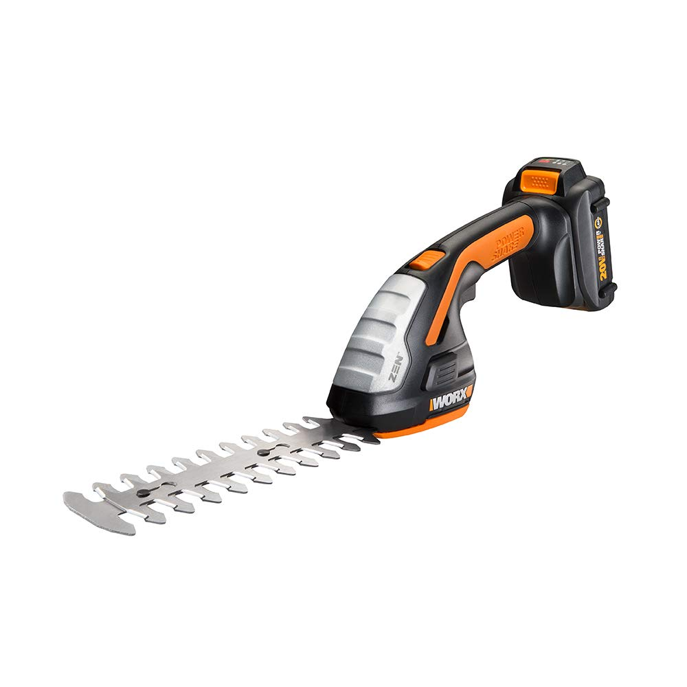 Worx WG801 20V Shear Shrubber Trimmer, Battery and Charger Included by WORX