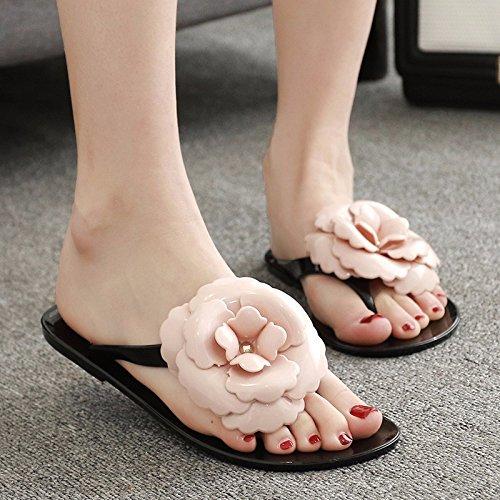 flip versione flop fiori Estate pantofole pantofole per Nero piede coreana donna scarpe freddo piatte pantofole RnHYaq8z