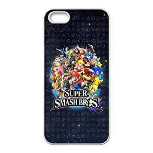 Super Mario Bros Phone Case And One Free Tempered-Glass Screen Protector For iPhone 5,5S Z58131