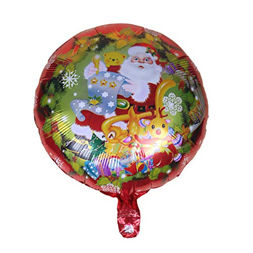 (FANRENYOU 4Pcs 18 Inch Christmas Foil Balloons Helium Christmas Decoration Inflatable Air Balls Party 05)