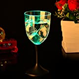 X&L Flash Cup Glowing Cup LED Wineglass Bar Festive Home (battery purchased by the buyer) , 201-300ml