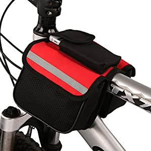 BLUETOP Bike Bag, Pannier Rack Tube Bag 2 in 1 Saddle Bag for Mountain Road Outdoor Sport Cycling
