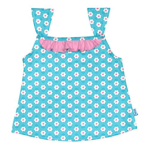 I play. Baby Girls' 2pc Ruffle Tankini Swimsuit Set With Snap Reusable Absorbent Swim Diaper