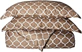Chic Home Brooklyn 3 Piece Reversible Duvet Cover Set Geometric Diamond Fretwork Pattern Print Zipper Closure Bedding, King, Taupe